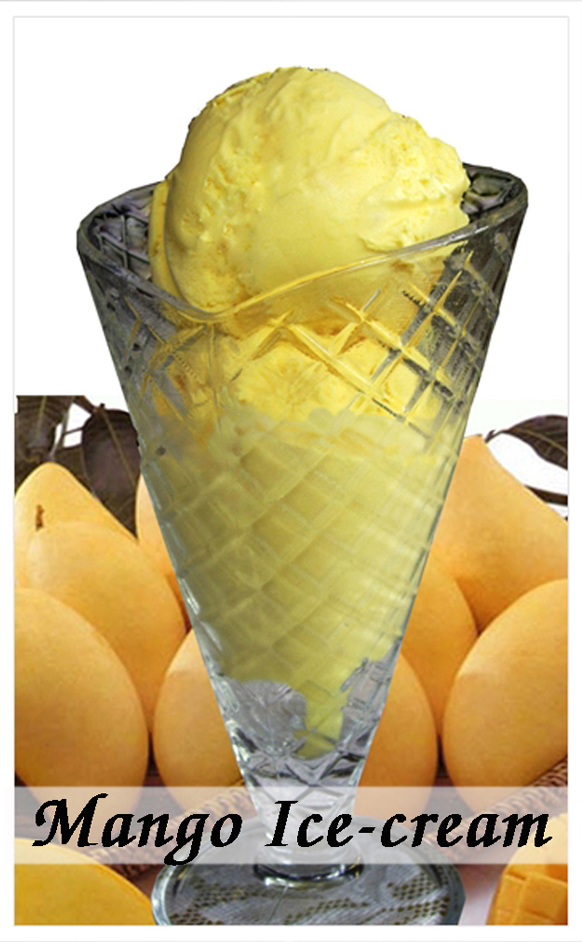 Mango Ice-Cream (2 Scoops)