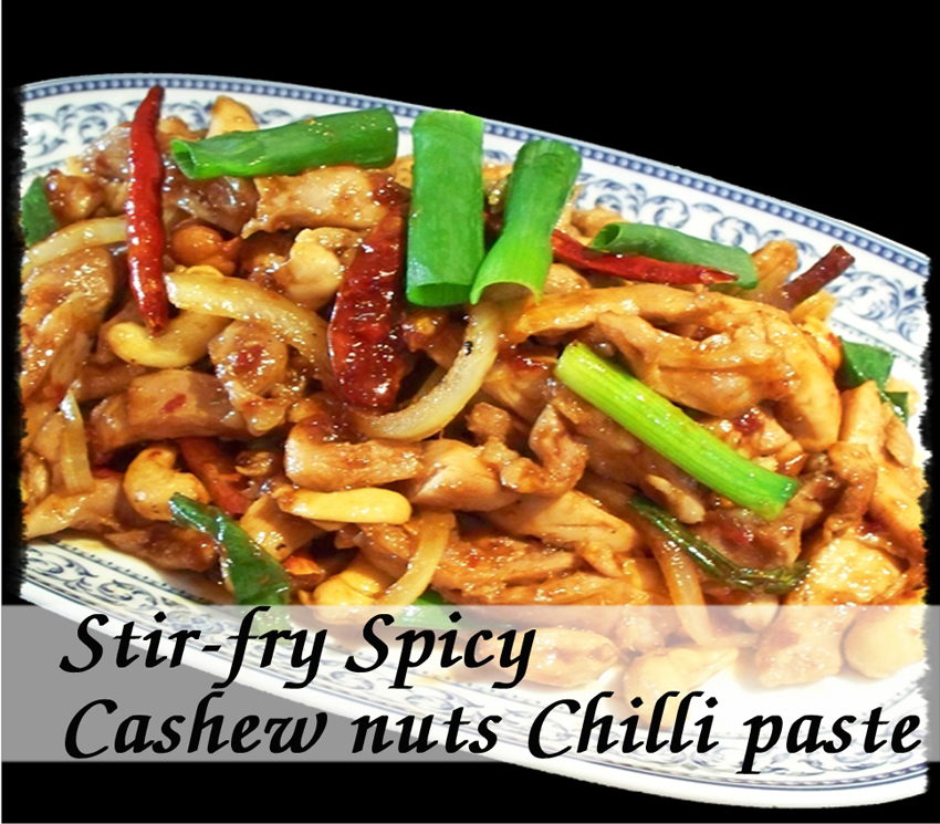 cashew nuts spicy chicken with cashew source fried chicken with cashew ...